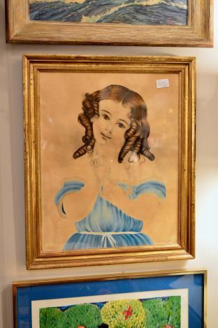Antique watercolor - gilt frame