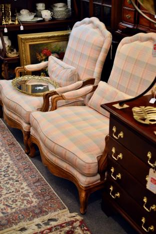 Fine pair of Baker chairs