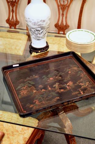 Chinoiserie painted tray