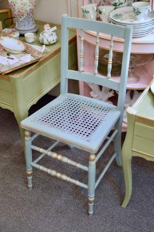 Vintage cane bottom chair - 1 of pair