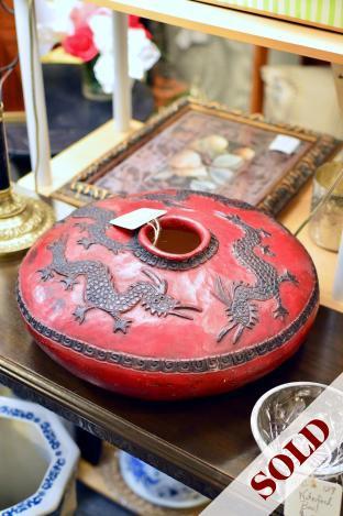 Large red pottery vase / bowl