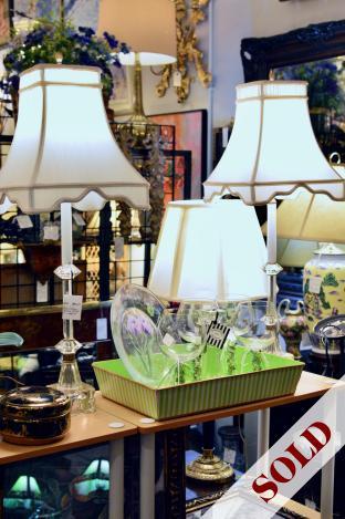 Pair of vintage buffett lamps