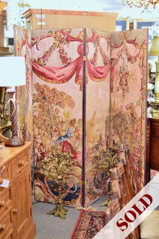 Four panel tapestry screen