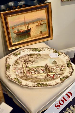 "Johnson brothers ""Friendly Village"" 20 in. turkey platter"