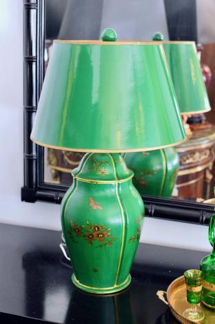 Green lamp - 1 of pair