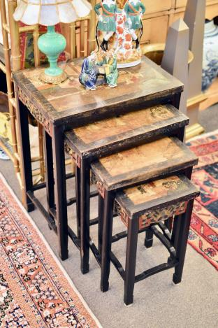 Set of 4 Asian nesting tables