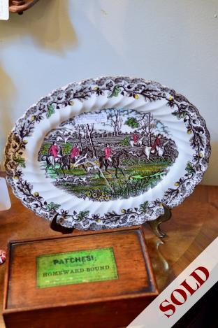 """Oval """"Country Life"""" plate"""