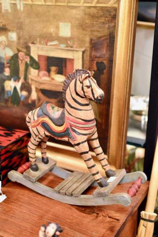 Small zebra rocking horse