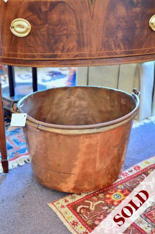 Large copper pot