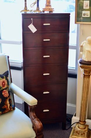 Stickly mahogany lingerie chest