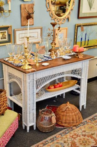 Vintage farmhouse table / stand / desk