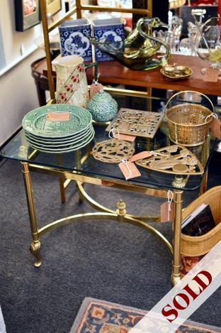 Vintage Labarge brass table