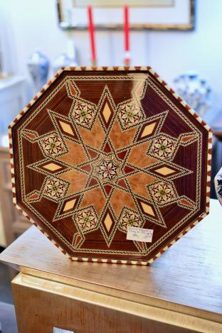 Spanish marquetry tray or wall hanging