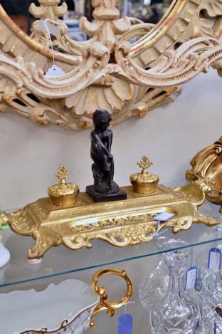 Vintage Maitland Smith brass desk set
