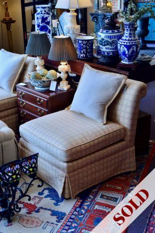Billy Baldwin slipper chair - one of pair