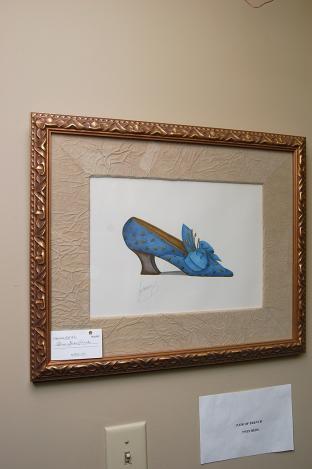 Blue shoe print