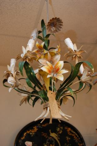 Large French Tole Chandelier