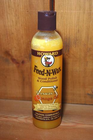 Howard Feed-N-Wax Wood Polish & Conditioner 8 fl oz