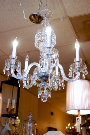 Beautiful crystal chandelier - rewired