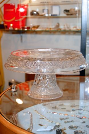 Cape Cod Cake Stand by Imperial Glass - 1930's