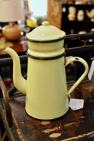 "Yellow ""Biggin"" French coffee pot"