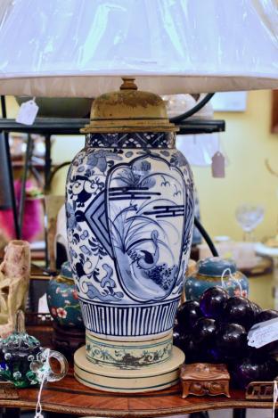 Custom blue & white Chinese lamp - beautiful!