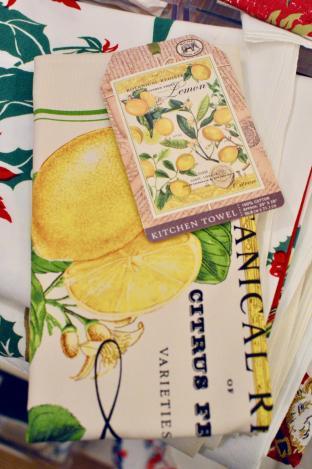 Lemon dish towel