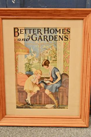 Better homes and Gardens framed cover