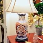 Large Imari lamp - beautiful colors