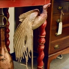 Eagle mounted on stand