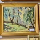 North Carolina summer woodland landscape - oil on canvas