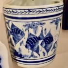 Chinese blue & white wall vase