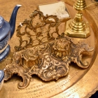 Beautiful brass double inkwell for the office