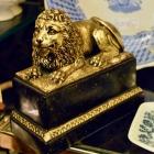 Borghese lion bookend