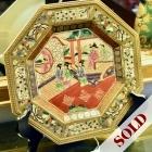 Asian decorative plate