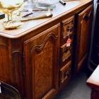 French sideboard - burl walnut door front