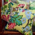 Pair of yellow pillows