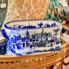 Stanfordshire blue & white tub
