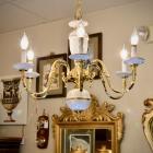 White porcelain 6-arm chandelier