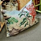 Oriental landscape pillow
