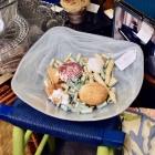 Square glass bowl / potpourri