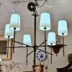 6 arm bamboo style chandelier