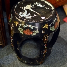 Chinoiserie seat w/ inlay