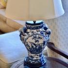 Blue & white lamp