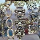 Nouveau style wide link bracelet