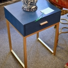 Navy 1 drawer stand on gold base