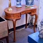 Kidney shaped table w/ 3 drawers