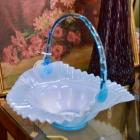 Aqua glass basket
