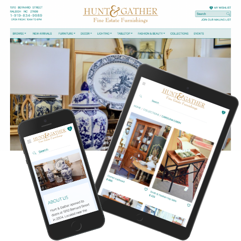 Hunt and Gather new layout